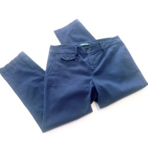 🌟3/$15 Ralph Lauren Blue straight leg pants sz 4